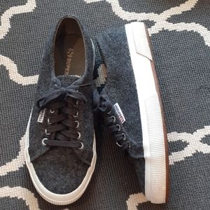 Superga Gray Wool Lace-up Sneakers 8